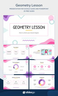 Free Powerpoint Presentations, Powerpoint Slide Designs, Powerpoint Design Templates, Creative Powerpoint, Geometry Lessons, Powerpoint Background Design, Graphic Design Tips, How To Make Notes, Presentation Design