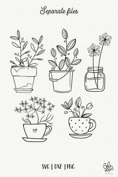 Bullet Journal Writing, Bullet Journal Ideas Pages, Bullet Journal Inspiration, Doodle Drawings, Easy Drawings, Doodle Art Journals, Doodle Art Letters, Plant Drawing, Tea Cup Drawing