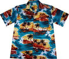 """Hawaiihemd / hawaiian shirt """"Sunrise in Paradise""""  Link: http://www.hawaiihemdshop.de/epages/64415908.sf/de_DE/?ObjectPath=/Shops/64415908/Products/23  more hawaiian shirts at / weitere Hawaiihemden auch unter: http://www.hawaiihemdshop.de"""