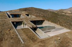 Ncaved House / MOLD Architects Casa Cook Hotel, Infinity Pool, Dry Stone, Exposed Concrete, House Built, Hidden House, Main Entrance, Flat Roof, How To Level Ground