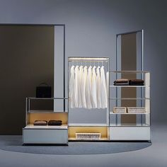 Forget common wardrobes. Build your own and highlight your favorite pieces with USM Haller E! #USMhallerE #lightitup