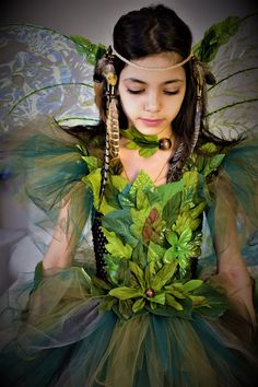 Woodland fairy dress fairy costumeWoodland fairy dressGreen foliage leaf fairy costume fairy birthday dress fairy festival costume  sc 1 st  Pinterest & womenu0027s wood fairy costume - Google Search | Fairy costumes ...