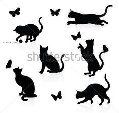 siluetas de gatos - Buscar con Google