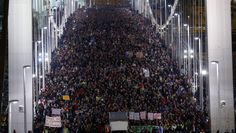 Hungary's Prime Minister Viktor Orban had an idea: tax internet use. His citizens didn't like the idea, took to the streets by the tens of thousands and forced their leader to back down. Ten of thousands of Hungarians march across the Elisabeth Bridge in Budapest during a protest against a proposed new tax on Internet data transfers. On Friday, October 31, Hungary's Prime Minister Victor Orban bowed to pressure and decided to scrap the Internet tax idea, for the time being.