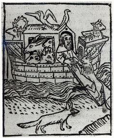 Noah's Ark, illustration from the Latin edition of the Nuremberg Chronicle
