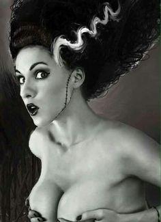 She's not a monster, she's just misunderstood,and Beautiful to boot. Le Jolie, Frankenstein's Monster, Monster Mash, Halloween Costumes, Halloween Iii, Family Costumes, Halloween Ideas, Happy Halloween, Bride Of Frankenstein