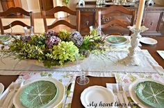 Provencal Book Club Dinner Table - My Heart Lives Here