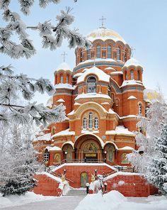 Russian Architecture, Church Architecture, Architecture Design, Castle Bedroom, Brick Design, Unique Buildings, Castle House, Cathedral Church, World Pictures