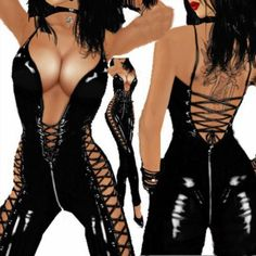 38.99$  Buy here - http://viqdr.justgood.pw/vig/item.php?t=fldb9l36190 - Leather Zipper Bodysuit Sexy Jumpsuit