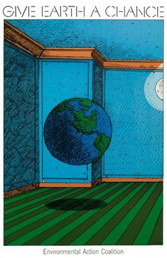 Milton Glaser - Poster -1970 - Give Earth a Chance, 1970 Graphic Design - illustration