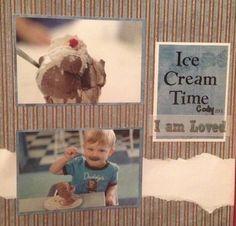 Ice cream time scrapbook layout