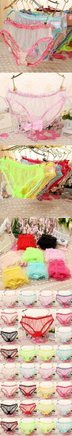 Womens Sexy Fashion Panties Briefs Knickers Bikini Lingerie Underwear Lace Sheer Free shippping $1.02