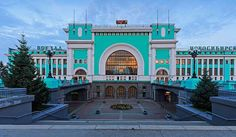 "Novosibirsk-Glavny is the primary passenger railway station for the city of Novosibirsk in Russia, and an important stop along the <a href=""http://www.hostelman... Get more information about the Novosibirsk-Glavny railway station on Hostelman.com #attraction #Russia #landmark #travel #destinations #tips #packing #ideas #budget #trips #trans-siberian #railway"
