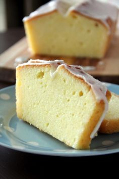 glazed meyer lemon pound cake