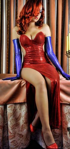 I wish I had the body and the hair to pull this off! Jessica Rabbit don't forget the corset and boob tape!!!!