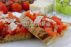 bruschetta with fresh tomatoes and parmesan cheese