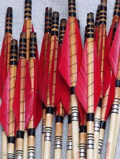 Handmade traditional wooden arrowss 45# (20 pieces)