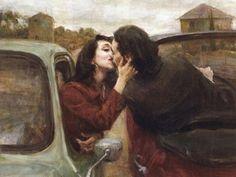 Ron Hicks - Peinture - Couples amoureux