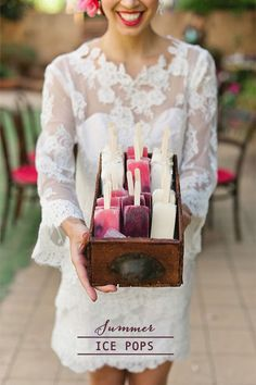 Popsicles and Poptails | Cold Refreshments for a destination wedding