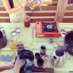plant dye workshop with Krissy Morrison, Kathleen Whitaker at the Ecology Center