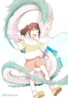 Chihiro and Haku the dragon
