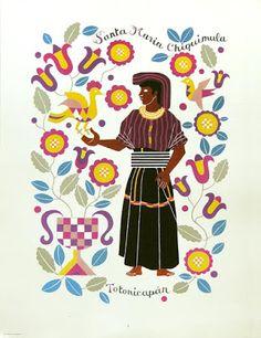 Trajes Indígenas de Guatemala, Carlos Mérida. Santa María Chiquimula, Totonicapán.