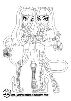Monster High Activity Book Printable | Imagens Monster High para Colorir!
