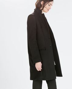 WOOL COAT WITH LAPELS from Zara
