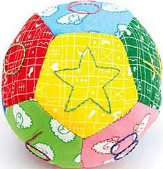 Tutorial cómo crear una pelota para niños / How to make a ball for the children #patchwork                                                                                                                                                                                 Más