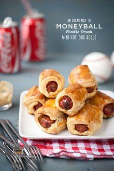 Craving > A Tribute to Brad Pitt and My Academy Award Recipe Round-Up : Mini Hot Dog Rolls via FoodieCrush.com