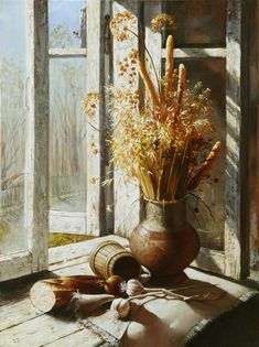 Remembrance of Summer - Dmitri Annenkov - good still life study
