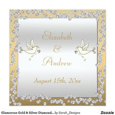 Glamorous Gold & Silver Diamonds & Doves Wedding