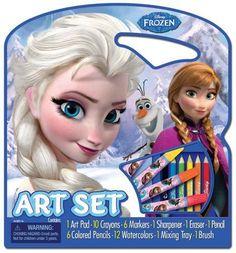 Art Disney Frozen Pad Paint Child Draw Tote Activity Kit Set Pack Craft Case #BendonInc
