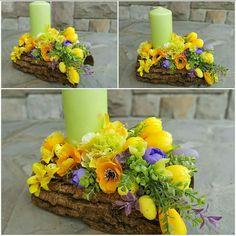 Easter Flower Arrangements, Easter Flowers, Floral Arrangements, Deco Floral, Arte Floral, Diy Easter Decorations, Valentines Day Decorations, Easter Art, Easter Crafts
