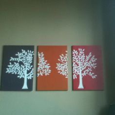 DIY. A little spray paint, canvas and decals! It was tedious but worth it!
