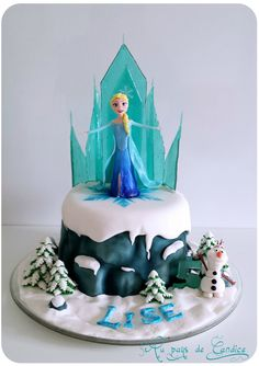Frozen La Reine Des Neiges G Teau Anniversaire Fille Image De Gateau Miam Pinterest See