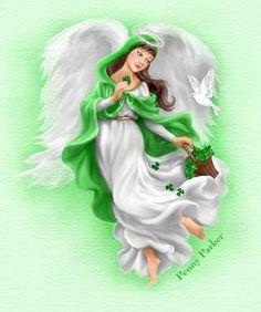 St. Patrick's Day Angel (Penny Parker, artist)