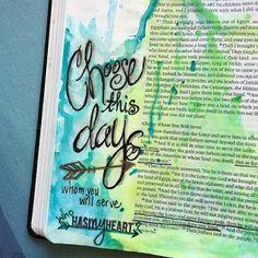 KarenScraps: Choose This Day! Bible Journaling  Joshua 24:15