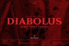Diabolus - Serif Font Family by Artistic & Unique Best Serif Fonts, Serif Typeface, Typography Fonts, Currency Symbol, Stylish Fonts, Great Fonts, Font Family, Good Mood, School Design