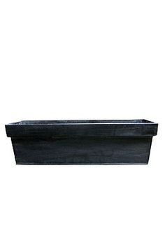 Black zinc window box in 2 sizes