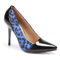 Blue Printet Pantera High Heels