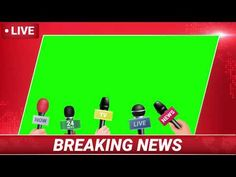 Logo Tv, Green Screen Backgrounds, Live News, Live In The Now, Frame, Creative, Youtube, Red, A Frame