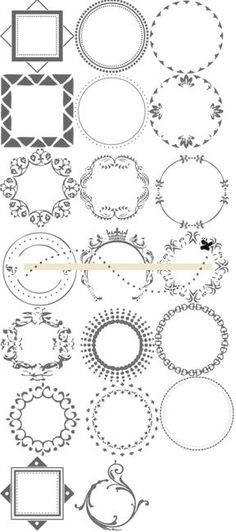round images circles scrapbooking cards printable – great variety!