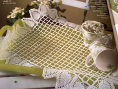 As Receitas de Crochê: Toalhinha de bandeja em crochê