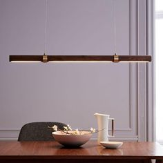 Linear Wood LED Pendant | west elm CA