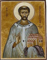 Agostino di Canterbury : a lui Papa Gregorio Magno affidò la Britannia evangelizzata.