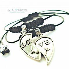 Single Bracelets For Two One Heart