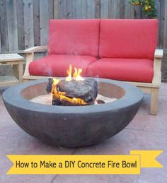 How to Make a DIY Concrete Fire Bowl