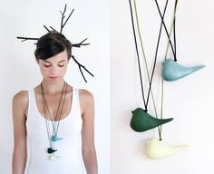 NAJS Poetic Bird Necklaces available in various colors at ARTĚL Design Stores! - The bird was designed primarily as a necklace pendant, but can work equally well as a home decoration.