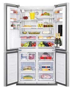 Americká lednice Beko GNE 134631 X nerez 4 Door Fridge, Top Freezer Refrigerator, French Door Refrigerator, Water Dispenser, Door Opener, Glass Shelves, Adjustable Shelving, Kitchen Appliances, Doors